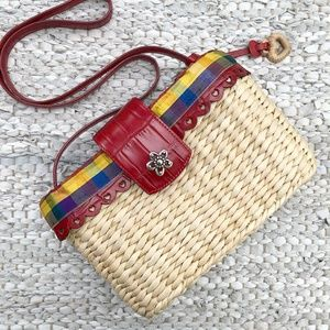 Brighton | NWOT Multicolored Straw Basket Tote